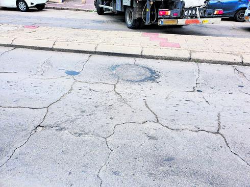 הכביש ברחוב הופיין   צילום פרטי