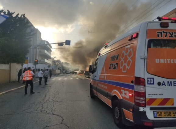 זירת הפיצוץ ברחוב ירמיהו בחולון