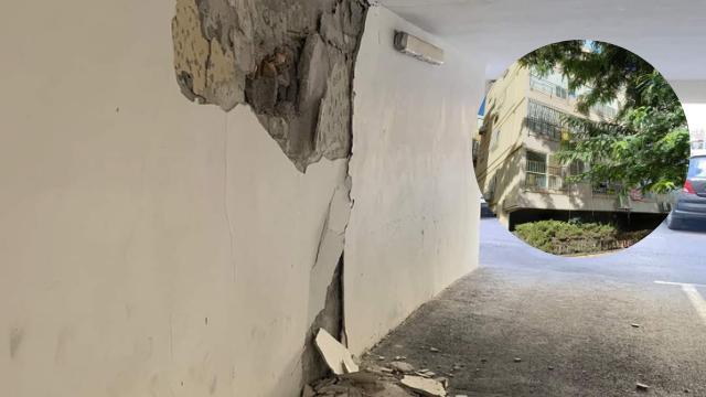 הבניין ברחוב סרלין. סכנת קריסה מיידית