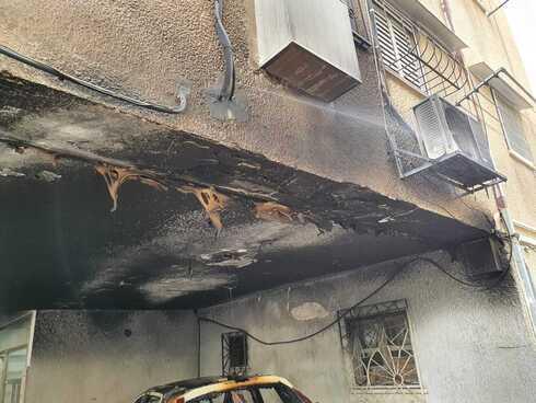 נזקים כבדים לבניין