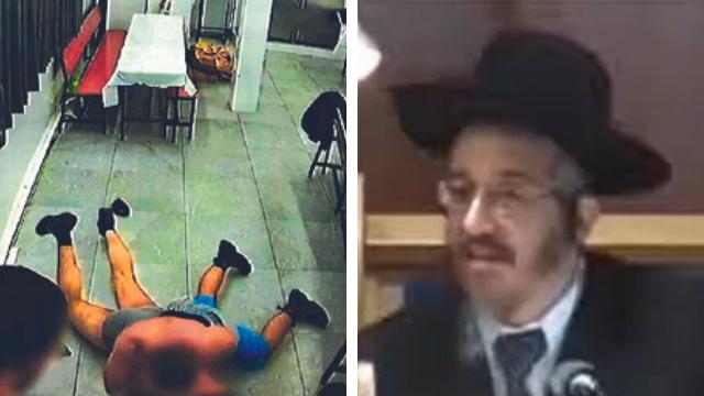 הרב יוסף מוגרבי וצילום מהסרטון שהופץ