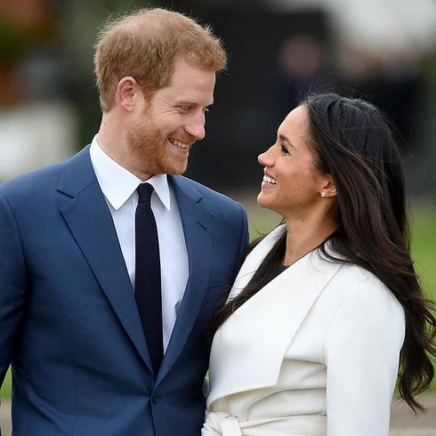 הנסיך הארי ומייגן מרקל. צילום: AFP