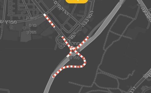 מפת הצירים הסגורים | באדיבות משטרת ישראל
