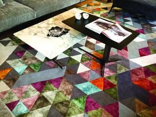 שטיח מבית אילוליאן בהדפסים גיאומטריים. RENBY