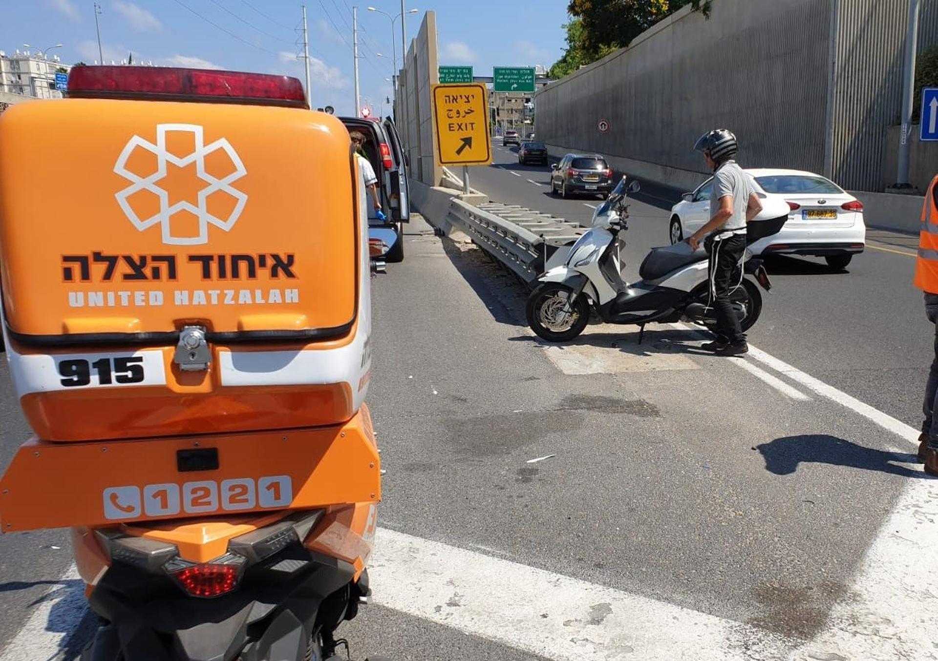 מהתאונה בדב הוז | צילום: איחוד הצלה