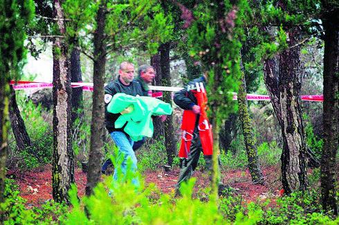 זירת הרצח, יער עמינדב | צילום: סבסטיאן שיינר